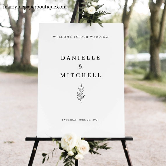 Welcome to our Wedding Sign - TEMPLATE