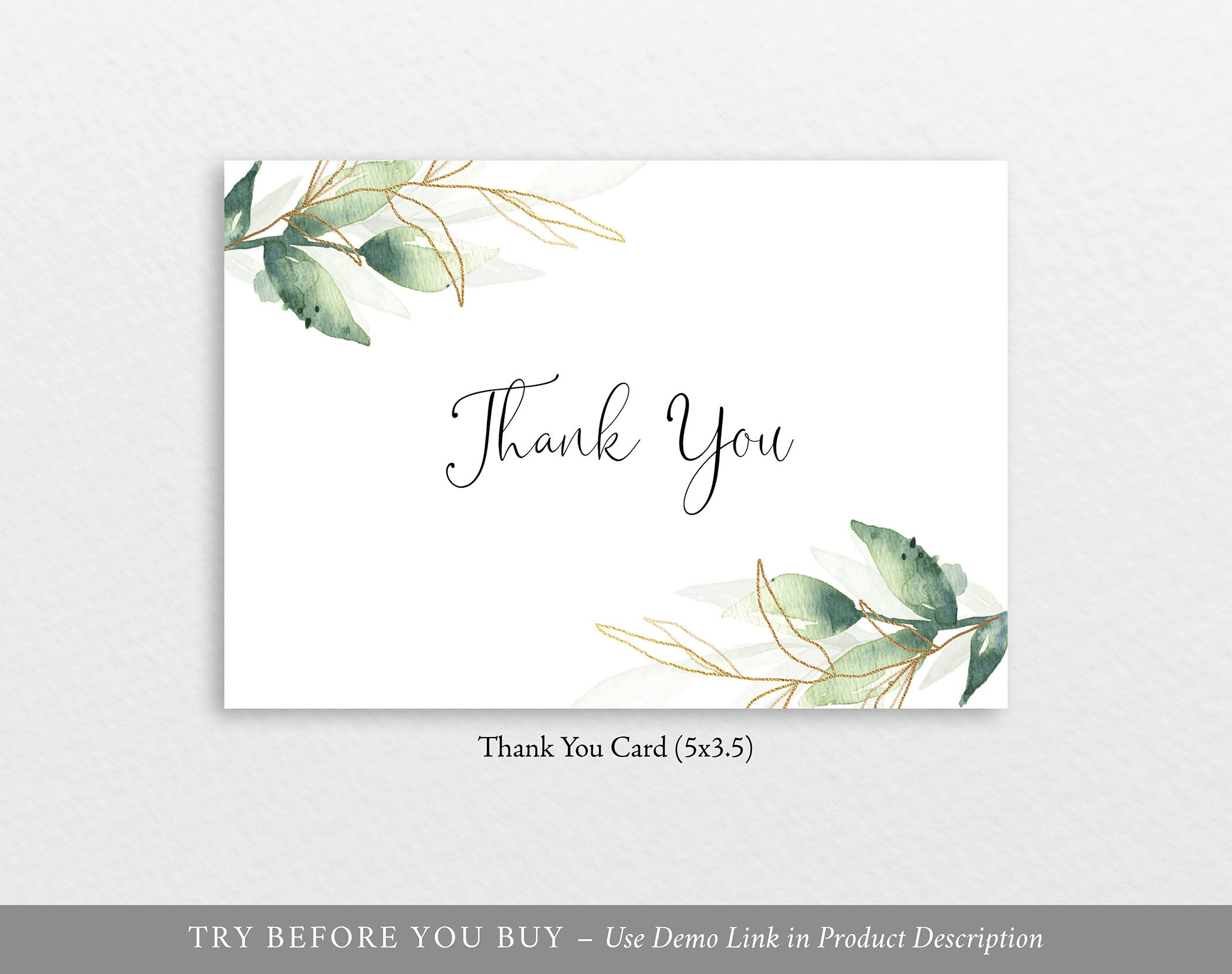 Thank You Card Template, Free Demo Available, Editable ...