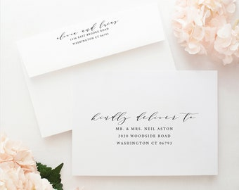 Wedding Envelope Template, TRY BEFORE You BUY, Instant Download, Elegant Wedding Address Printable,  Editable Text, A7 & A1 sizes