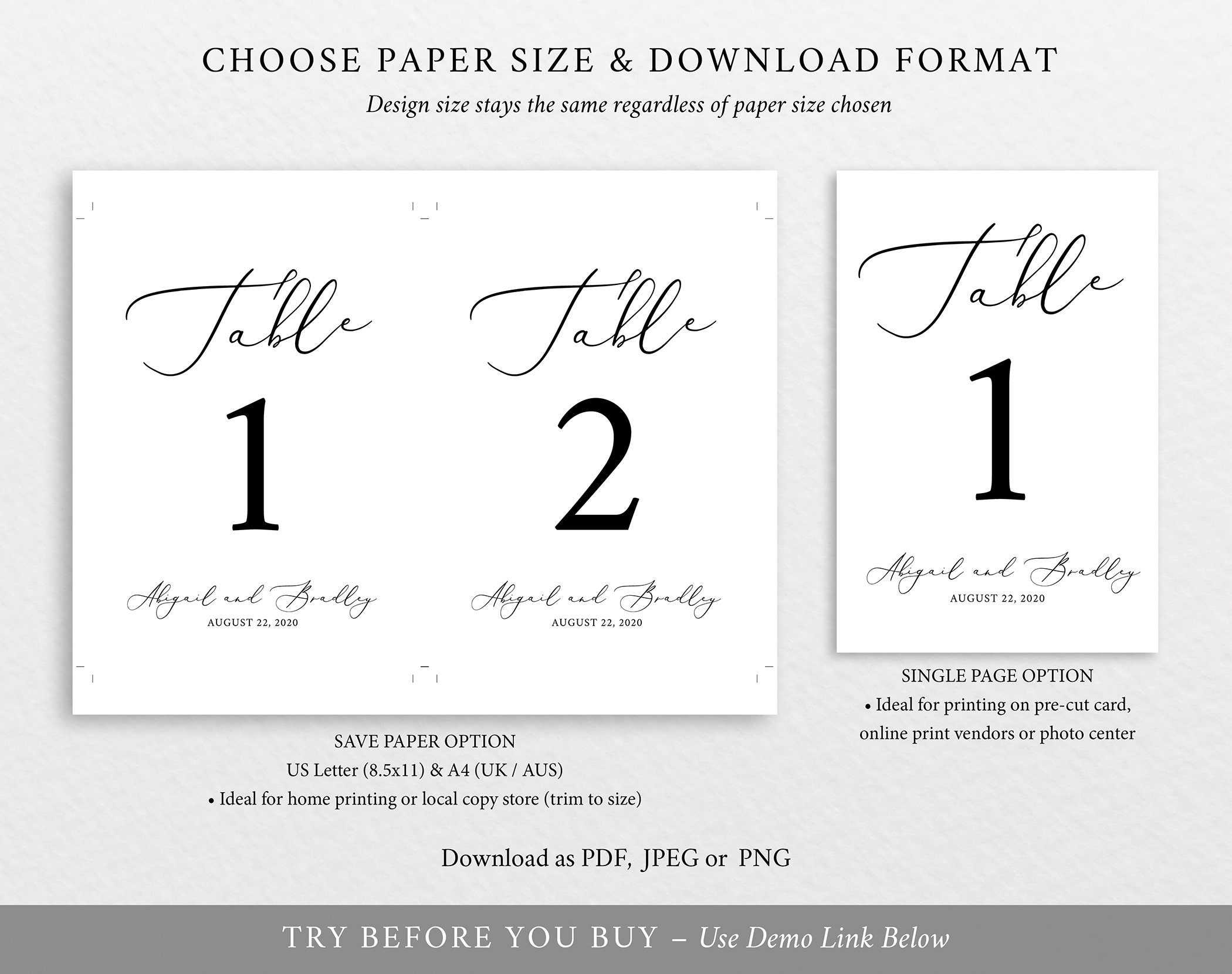 table number template 100 editable template try before. Black Bedroom Furniture Sets. Home Design Ideas