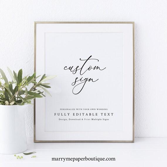 Wedding Sign Bundle Template, Elegant & Refined, Wedding Sign Printable, INSTANT Download, Templett, Editable