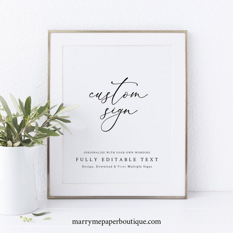 Wedding Sign Bundle Template Elegant & Refined Wedding Sign image 0