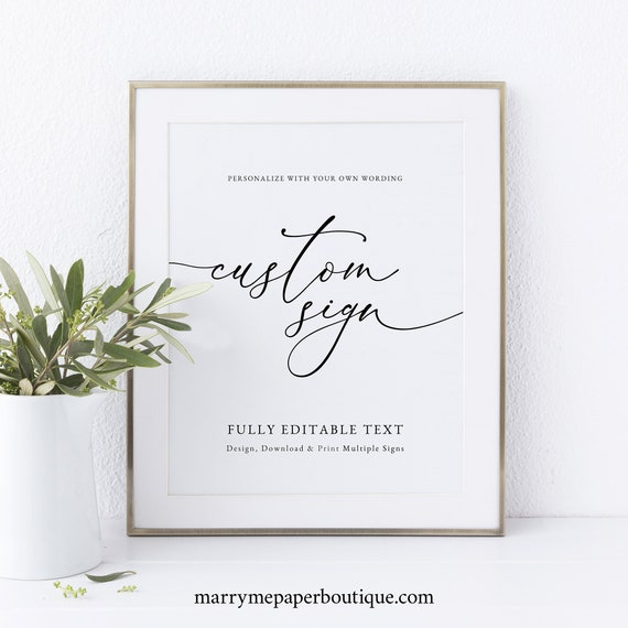 Classic Wedding Sign Bundle Template, Elegant Wedding Sign, Printable, Templett, Fully Editable, INSTANT Download