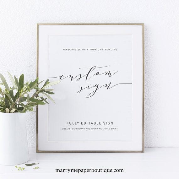 Elegant Wedding Sign Bundle Template, Modern Wedding Signs Printable, Templett, Fully Editable, Instant Download