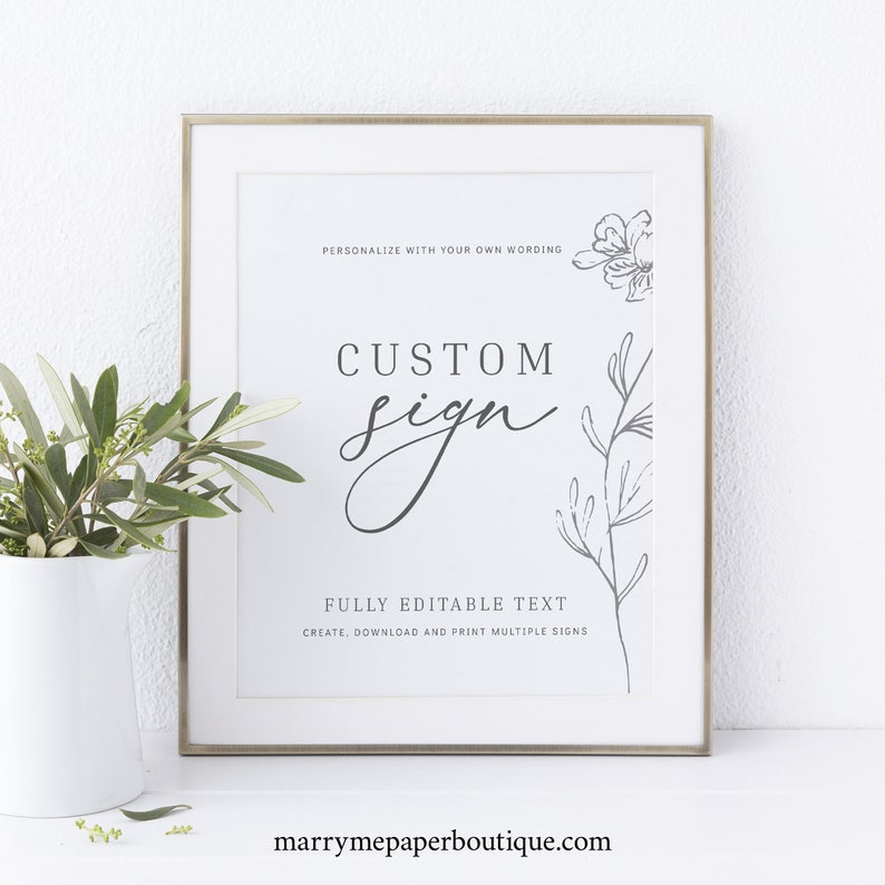Create MULTIPLE Signs Template TRY BEFORE You Buy  Editable image 0