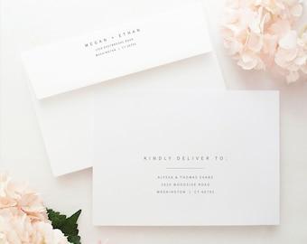 Minimalist Wedding Envelope Address Template, Modern Envelope Address Printable, Templett,  Editable, Instant Download