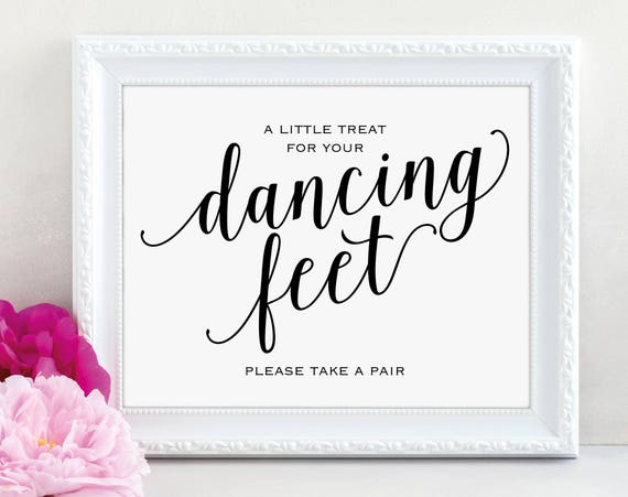 Dancing Feet Sign, Dancing Shoes Sign, Please Take a Pair, Wedding Dancing, Weddding Printable, Wedding Sign, PDF Instant Download, MM01-1