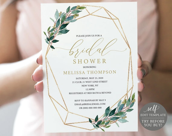 try before you buy bridal shower invitation template 100 etsy