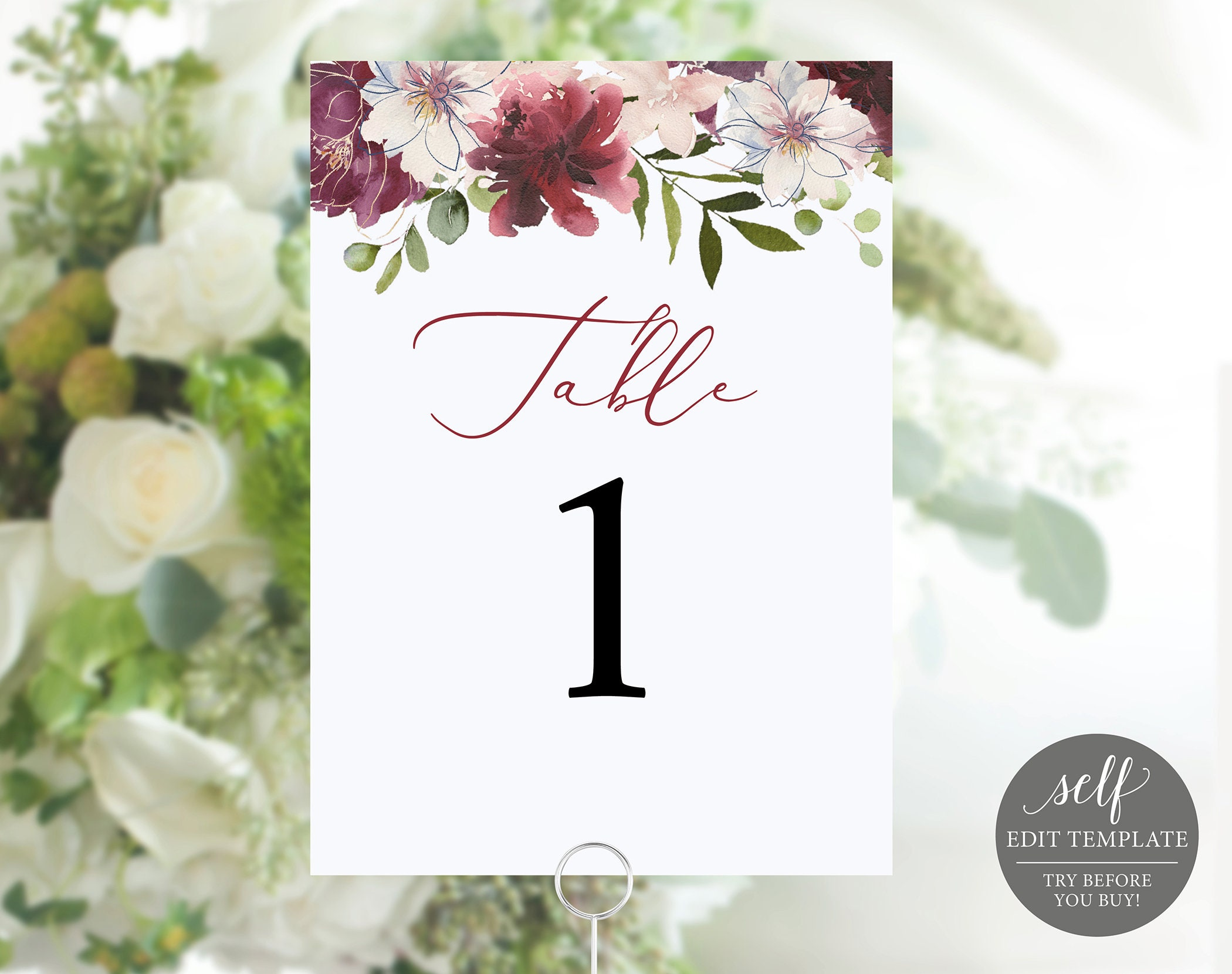 table number template 100 editable elegant wedding table numbers
