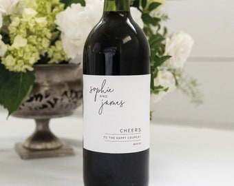 Wine Label Template, Minimalist Elegant, Editable & Printable Instant Download, Try Before Purchase