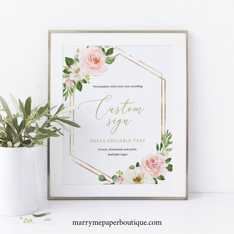 Create Multiple Signs Editable Template Instant Download image 0