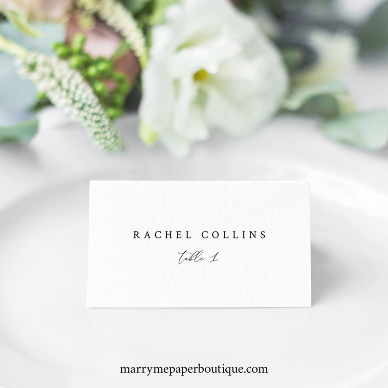 INSTANT Download Templett Elegant /& Refined Wedding Place Card Template Seating Card Printable Fully Editable