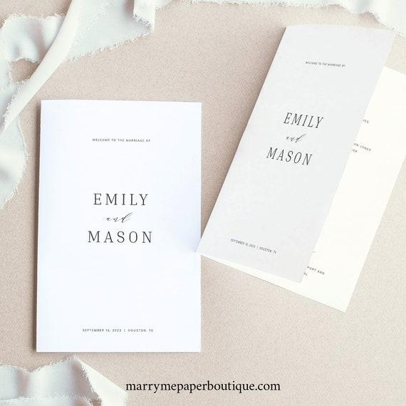 Catholic Wedding Program Template, Formal & Elegant Folded, TRY BEFORE You BUY,  Editable Instant Download