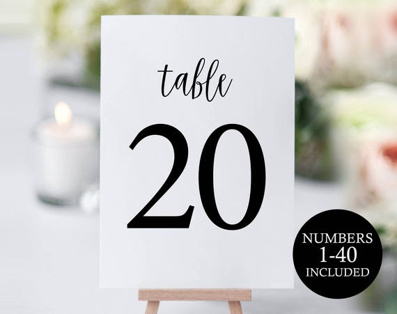 table number template rustic table numbers printable table etsy