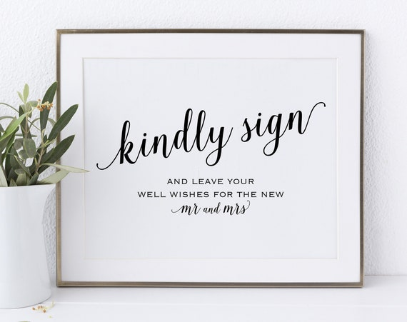 Guest Book Sign, Please Sign our Guest Book, Guest Book Printable, Kindly Sign, Wedding Printable Sign, DIY, PDF Instant Download, MM01-1