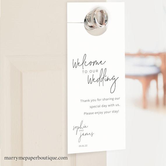 Door Hanger Template, Minimalist Elegant, Instant Download, Try Before You Buy, Editable & Printable Door Hanger