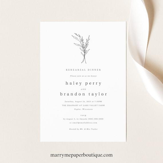 Rehearsal Dinner Invitation Template, Modern Rustic, Wedding Rehearsal Dinner Invite, Printable, Templett INSTANT Download, Editable