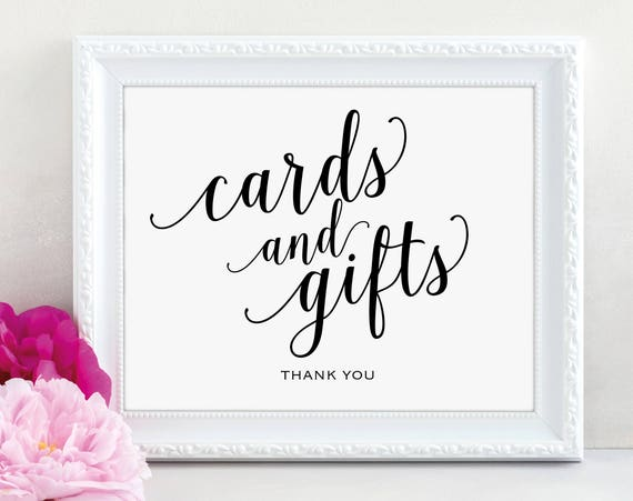 Cards and Gifts Sign, Cards & Gifts Printable, Gift Table Sign, Wedding Printable, Printable Wedding Sign, PDF Instant Download, MM01-1