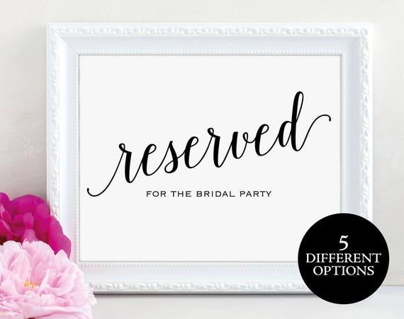 Reserved Sign, Reserved Printable, Reserved Wedding Sign, Reserved Table Sign, Reserved, Wedding Printable, PDF Instant Download, MM01-1