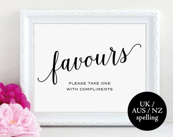 Wedding Favour Sign, Newlyweds, Favours Sign, Wedding Favour Printable, Wedding Printable, Wedding Template, PDF Instant Download, MM01-1