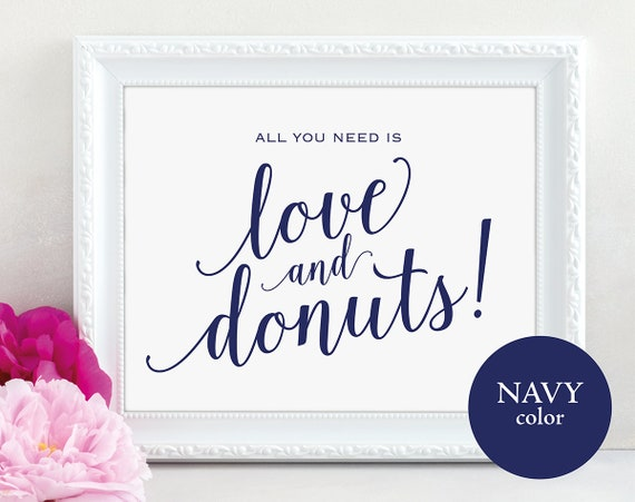 Navy Love and Donuts Sign, MM01-4