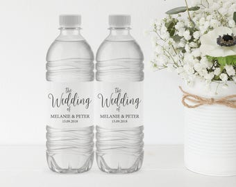 Wedding Water Bottle Label, Printable Water Bottle Label, Water Bottle Label Template, Wedding Label, PDF Instant Download, MM02-1
