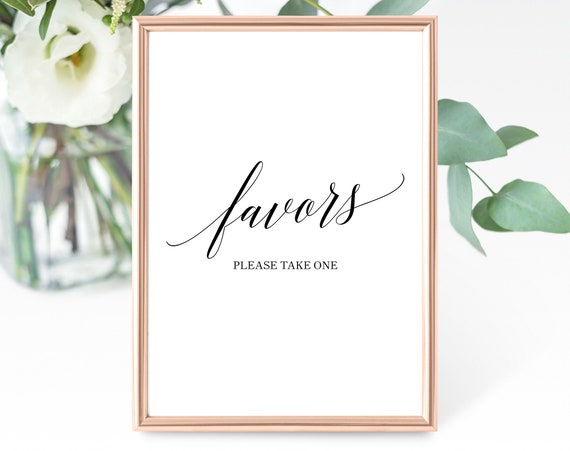 Wedding Favor Sign Template, Please Take One, Printable Favors Sign, Wedding Favor Template, Favor, PDF Instant Download, MM07-1B