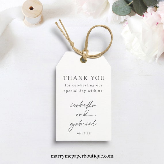 Favor Tag Template, Printable & Editable Gift Tag, Templett Instant Download, Try Before You Buy, Handwritten Style Font