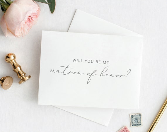 Will You Be My Matron of Honor Card, Printable Matron of Honor Card Template, Wedding Card to Matron of Honor, PDF Instant Download MM08-1