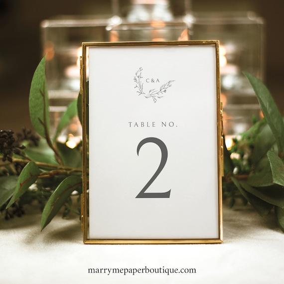 Table Number Template, Instant Download, Try Before Purchase, Elegant Monogram Design, Templett Editable & Printable