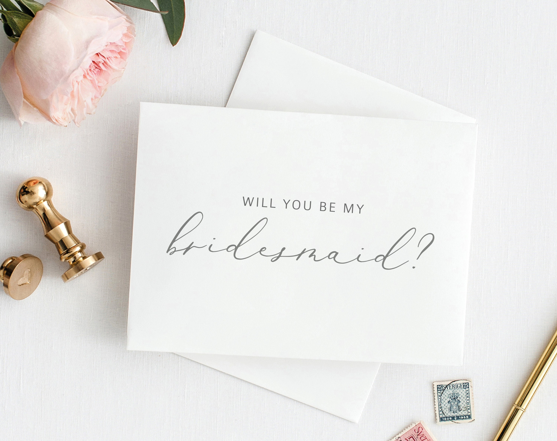 Will You Be My Bridesmaid Card Printable Bridesmaid Card Template