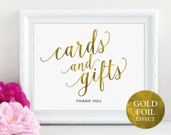 Gold Cards and Gifts Sign, Cards & Gifts Printable, Gift Table Sign, Wedding Printable, Printable Wedding Sign, PDF Instant Download, MM01-3