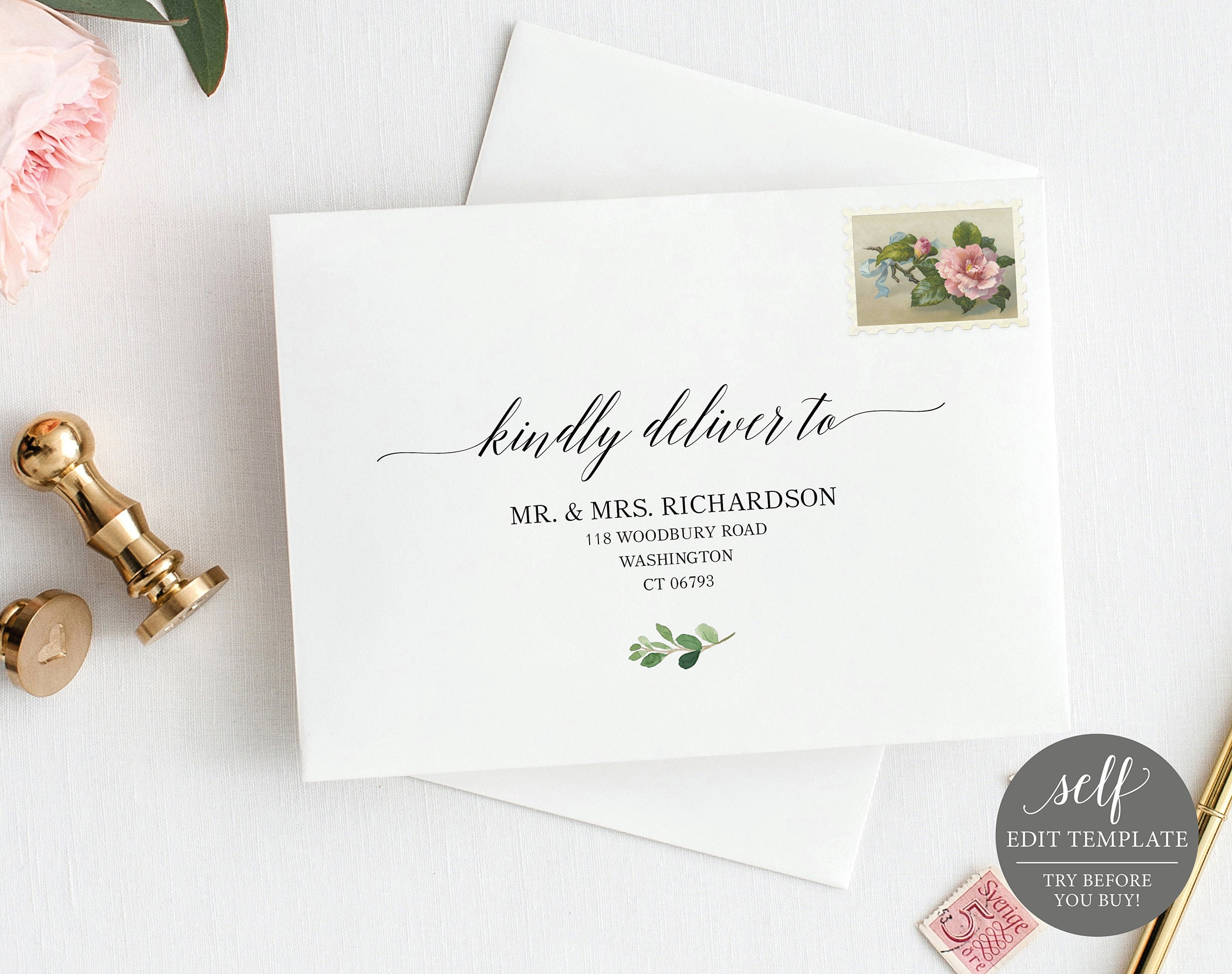 It's just a photo of Rare Printable Envelope Address Template