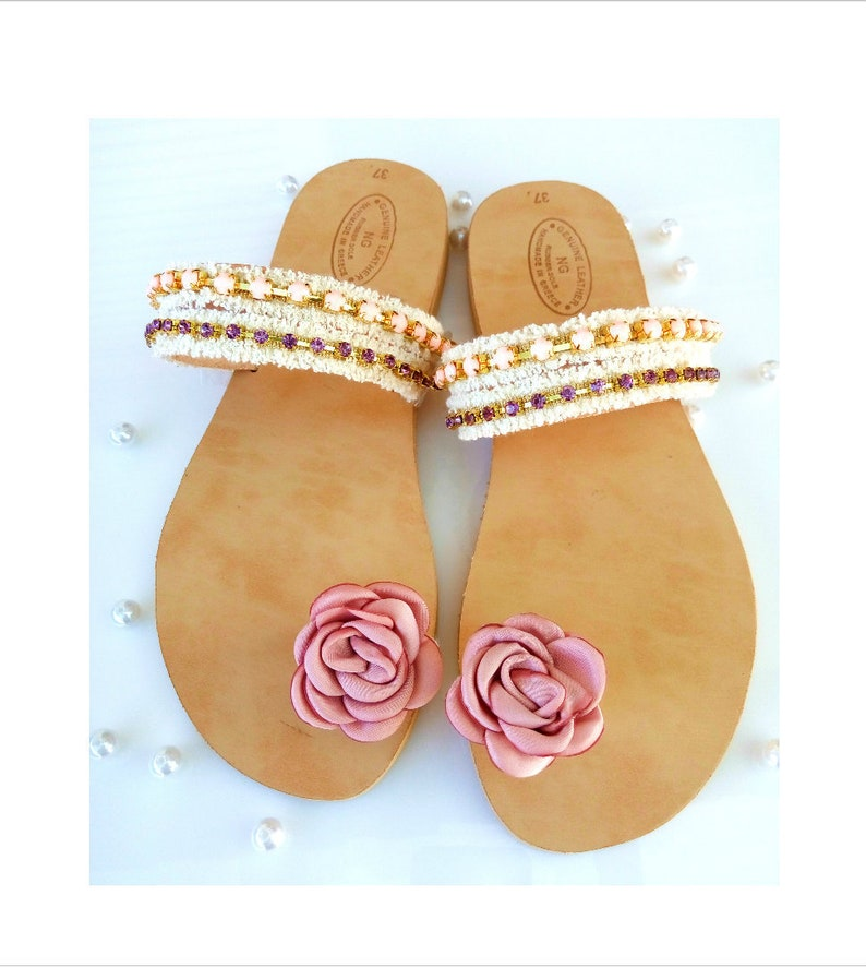e9d45999cfbd Bridal sandals leather sandals toe ring sandals wedding