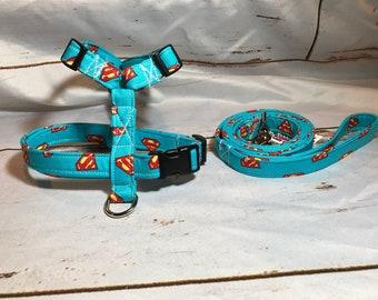085ae34eabf5 Dog harness, harness and leash, step in harness, standard harness, super  hero harness, adjustable dog harness, super man, super hero