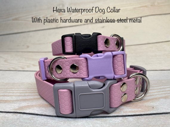 dog collar lavender dog collar Waterproof dog collar Hexa Adjustable waterproof Dog Collar waterproof dog collar buckle dog collar