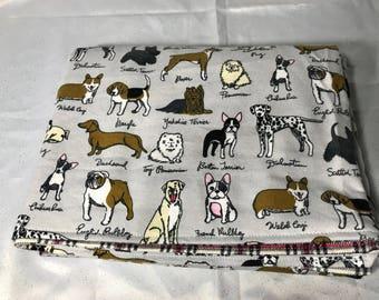 Flannel Blanket - Dog Blanket french bulldog boston terrier pug boxer chihuahua yorkie dog breeds