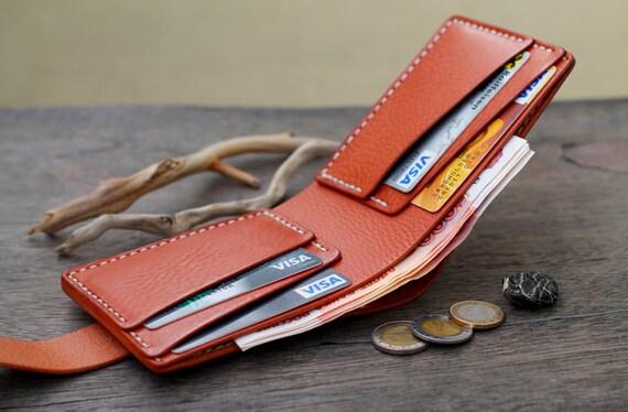 Cuir portefeuille, portefeuilles homme, portefeuille en cuir pour homme, cadeau garçons d'honneur, portefeuille pour homme, cadeaux pour les hommes