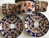 Antique Derby Imari Pattern Cup , Saucer , and sugar bowl