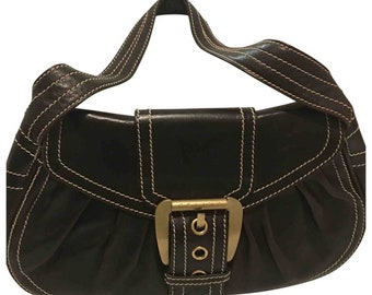bdfba2b10e42 Vintage Celine Paris shoulder leather bag