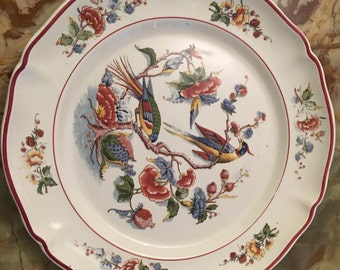 """Antique Villeroy & Boch Dinner Plate 10"""", Made in Mettlach Germany 1880 - 1920s"""