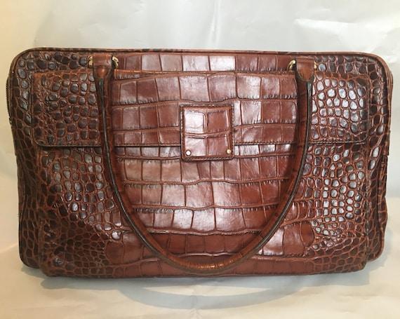 Markenqualität begrenzter Preis 60% günstig Coccinelle croc embossed genuine leather shoulder bag / Brown colour
