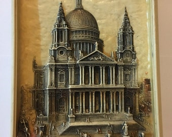 S' Paul's Cathedral Plaque / Ivorex Osborne Copyright Made in England || Vintage