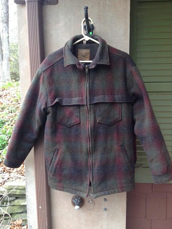 G.H. Bass mens wool hunting coat size medium. RIpcba