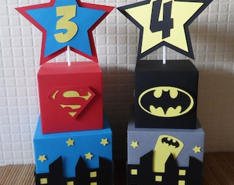 Superhero Skyline Table Decorations. Birthday decorations. Special Occasions.