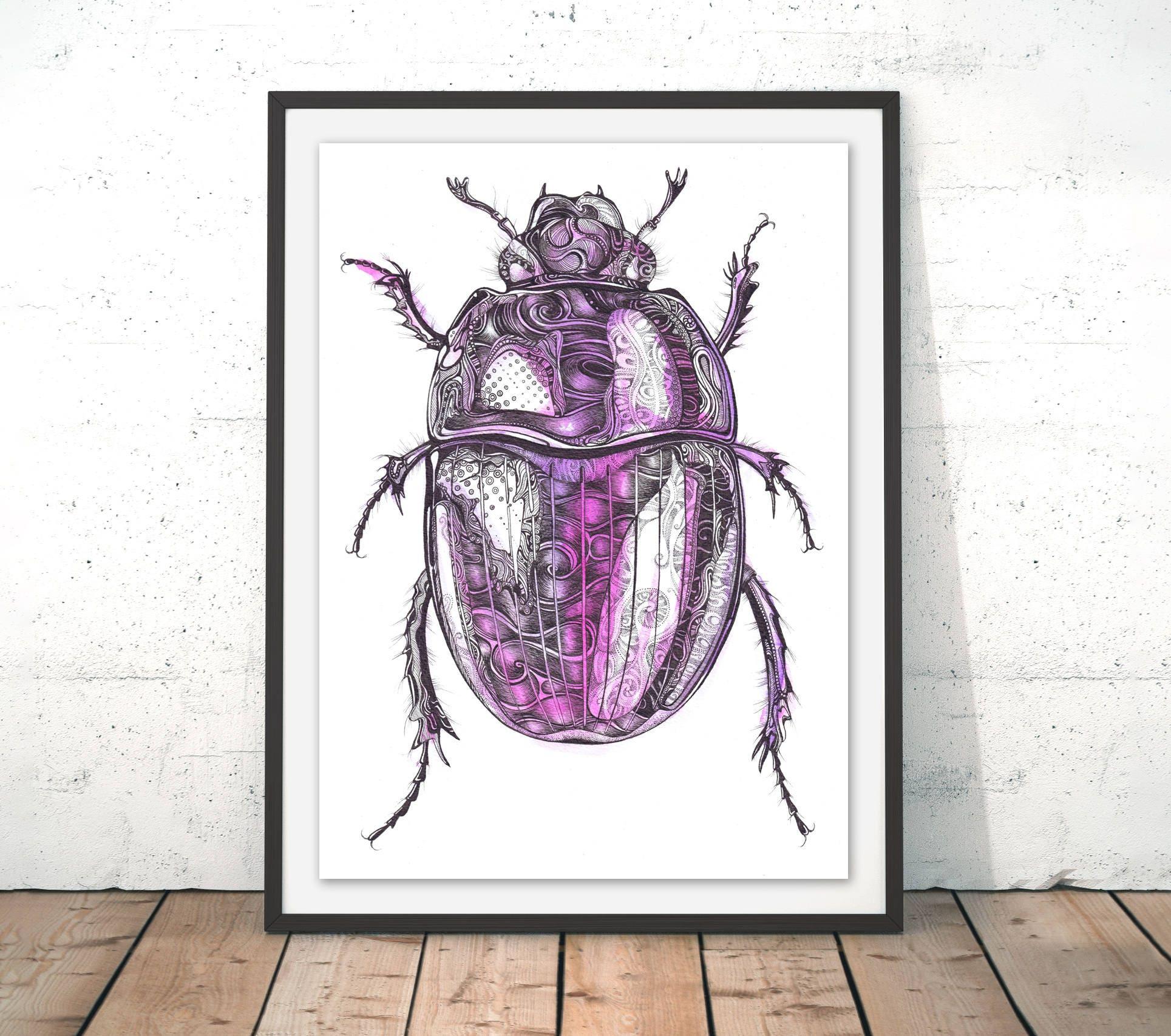 Kunstdruck/Poster Käfer Käfer Poster Insekt Wandkunst   Etsy