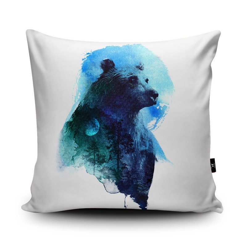 43x43cm Choice of Colours Cushion Cover Woodland Trees