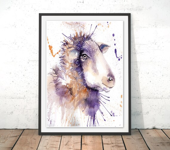 Sheep Watercolour Sheep Art Print Sheep Home Decor Sheep