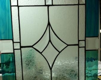 Custom Stained Glass Panel for Kithcen Cabinet Door Insert - Set of 2 Matching