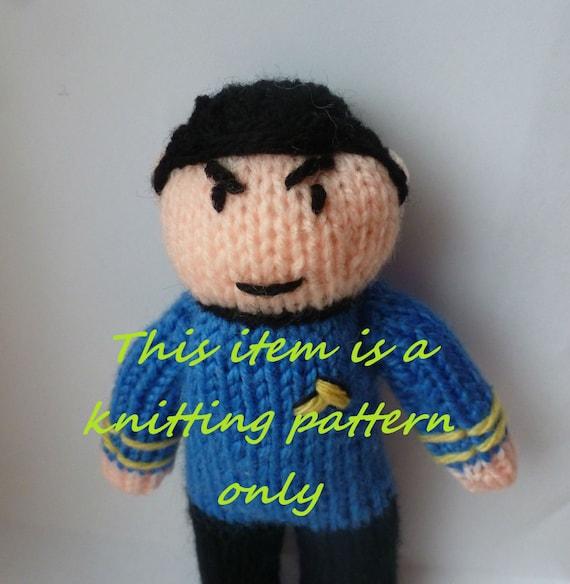 Pdf Knitting Pattern Spock Star Trek Etsy